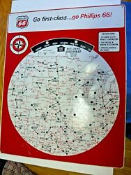 Original 1964 Phillips 66 Dist-o-map Mileage Computer Advertising Sign