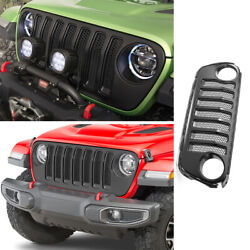 Abs Black External Front Grille Grill Decoration For 2018-2020 Jeep Wrangler Jl