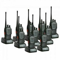 Baofeng Bf-888s Two Way Radio 400-470mhz Walkie Talkie Set With Flashlight Lot