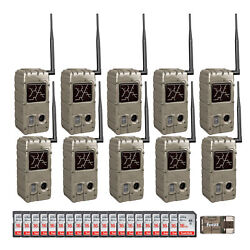 Cuddeback 20mp Dual Flash Trail Cameras With Cl Caps 10 Pack And 16g Card 20 Pk