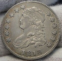 1818 Capped Bust Quarter 25 Cents - Key Date, Nice Coin, Free Shipping. 5213