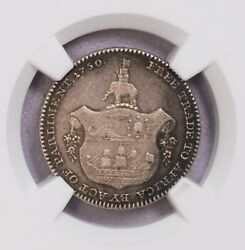 Ngc-au58 1796 Gold Coast 1/4a Parliment Only One Finer Mintage 2880pcs Toned