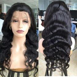 8- 30 34 Inch 13x4 Lace Front Human Hair Wigs Plucked Body Wave Fake Scalp Wigs