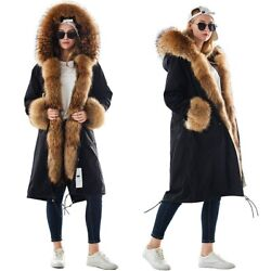 Large Size Winter Womenand039s Leather Jacket Natural Fur Coat Fur Lining