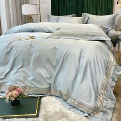 Duvet Cover Four-piece Bare Silk Summer Bedding Bed Sheet Quilt Cover Silky