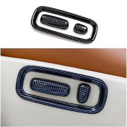 Carbon Fiber Seat Button Handle Cover Trim 3pc For Toyota Land Cruiser 2008-2021