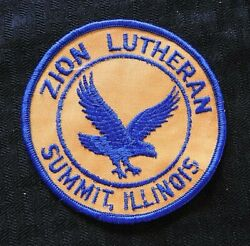 C.1970 Zion Lutheran School Eagles Summit Il Illinois Cheesecloth Patch Church