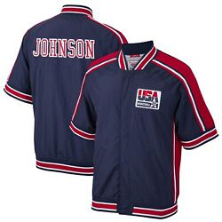 Magic Johnson Usa Basketball Mitchell And Ness 1992 Dream Team Authentic Warm-up