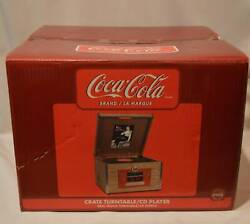 Coca Cola Coke Wood Crate Stereo Turntable Cd Player Radio Clock New In Box