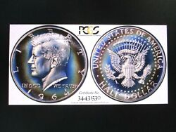 1964 Kennedy Half Pr69 Looks Cam 2xtoned The Eternal Blue Flame Of Camelot