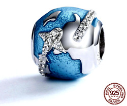 Pandora Sterling Silver S925 Ale Travel The Whole World Charm Bead 558812