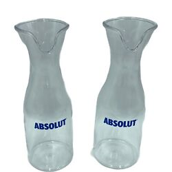 Lot Of 2x Absolute Vodka Promo Water Bottle Carafe Pitcher