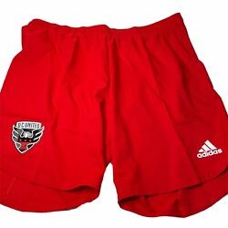 Dc United Adidas Authentic Red Shorts Aeroready Mls Xl Soccer New
