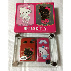Zippo Lighter Hello Kitty Angel And Devil Pair Set Limited To 214 Pieces Japan F/s