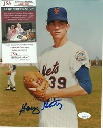 Gary Gentry 39 Signed 8x10 Photo New York Mets 1969 World Series Pitcher