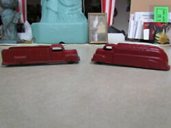 Vintage Lot Of 2 Red Tootsie Toy Red Metal Trucks One Is Texaco