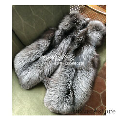Luxury Real Whole Leather Fox Fur Vest Silver Fox Red Fox Ins Net Red Fur Vest