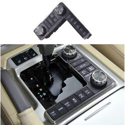 Black Middle Console Button Switch Frame Trim For 2016-2021 Toyota Land Cruiser