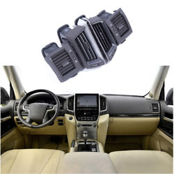 Black Middle Air Outlet Vent Cover Trim 4pcs For 2016-2021 Toyota Land Cruiser