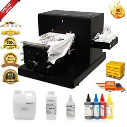 A4 Flatbed Printer T-shirt Printer Directly To Print Dark Multicolor A4 Clothes