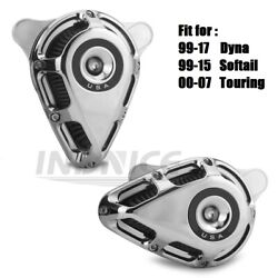 Chromed Turnable Air Filters For Harley Fxdl Low Rider Wide Glide Fxdf Fat Bob