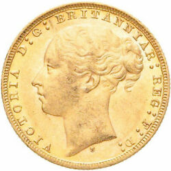 Rare Uncirculated 1879-s Victoria Gold Sovereign St. George Reverse Ngc Ms 61