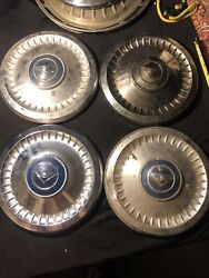 Set 4 1961-62 Corvair And Chevy Ii Nova 9 1/2 Dog Bowl Dish Poverty Hubcap Caps