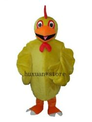 Yellow Chicken Mascot Costume Adult Birthday Party Fancy Dress Halloween Outfits