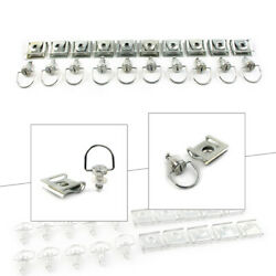 10 Sets Race Fasteners Quick Release 1/4 Turn Fairing 15mm D-ring Bolt For Honda