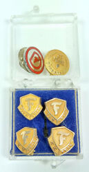 14k Firestone Tires Service Pins 1950's-1970s 5 10 15 20 25 Years 10k Gold Lot