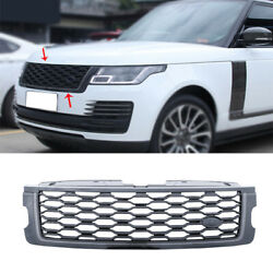 For Range Rover L405 2018-2020 Gloss Black Front Center Mesh Grille Grill Cover
