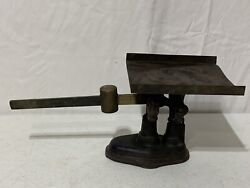 Antique 1900andrsquos Fairbanks General Store Cast Iron Brass Scale Hha1b 4a