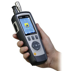 Portable Digital 6-channel Air Dust Particle Counter Temperature/humidity Tester