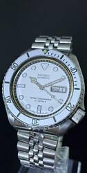 Pole Oh Finished Seiko Diver 6309-7290 Automatic Winding Mod White Bezel Dial
