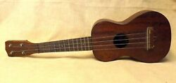 1920and039s S.s. Stewart Antique Flame Mahogany Ukulele Great Piece