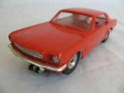 Vintage 1960s Amt 1/24 / 1/25 Scale Red 1964 Ford Mustang Slot Car Ex