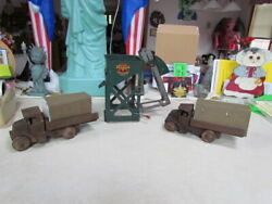 Lot Of 3 Vintage Marx Metal Toys Hopper Loader And 2 1920's Army Wind Up Trucks
