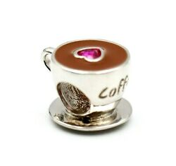 New Pandora Sterling Silver 925 Ale Coffee Cup Charm Bead 558816