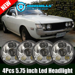 4pcs 5-3/4 5.75 Led Projector Headlights Drl Fit For Toyota Celica 1972-1979