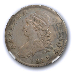 1811/10 50c Capped Bust Half Dollar Ngc Xf 45 Extra Fine To About Uncirculate...