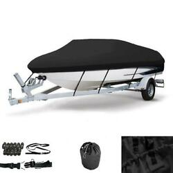 16-18ft 600d Oxford Fabric High Quality Waterproof Boat Cover With Storage Bag -