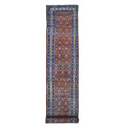 3'2x16'4 Antique North West Farsian Full Pile Pure Wool Handknotted Rug R66574