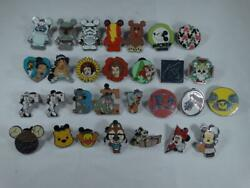 Disney Pin Lot Of 29 Mickey Minnie Pooh Park Collectible Pins Vinylmation