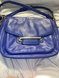Coach Women#x27;s Satchel Crossbody Leather Bag Royal Blue $54.00