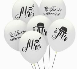 Just Married Balloon Mr And Mrs Latex Set Wedding Decoration Party Supplies 10pcs
