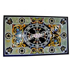 4and039x2and039 Marble Top Counter Table Mosaic Inlay Art Interior Decor Furniture E964c