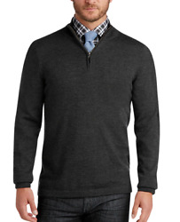 Nwt - Joseph Abbound Menand039s And039merinoand039 Charcoal Wool Sweater - 2xlt
