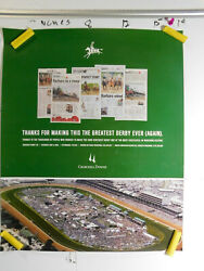 2006 18x22 Print Barbaro Kentucky Derby 132nd Thanks Poster To The Volunteers