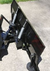New 66 Snow Plow/blade For Subcompact Tractor With Skid Steer Universal Mount