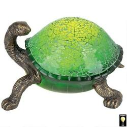 Ky7352 - Nocturnal Turtle Mosaic Glass Illuminated Sculpture